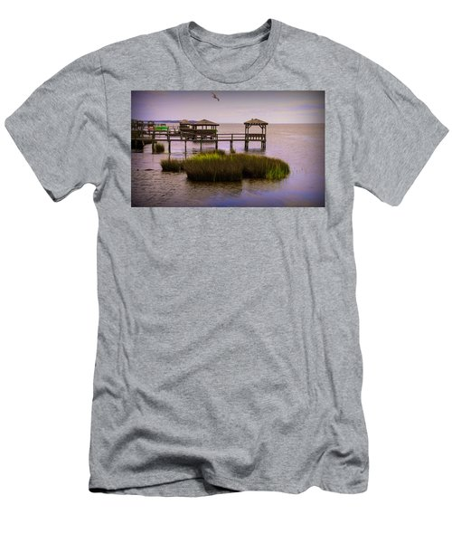The Waterfront At Duck  Men's T-Shirt (Athletic Fit)