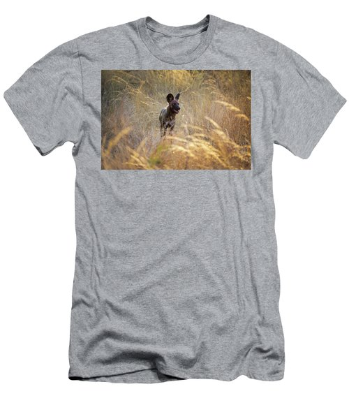 Men's T-Shirt (Athletic Fit) featuring the photograph The Wild Dog Of Africa by John Rodrigues