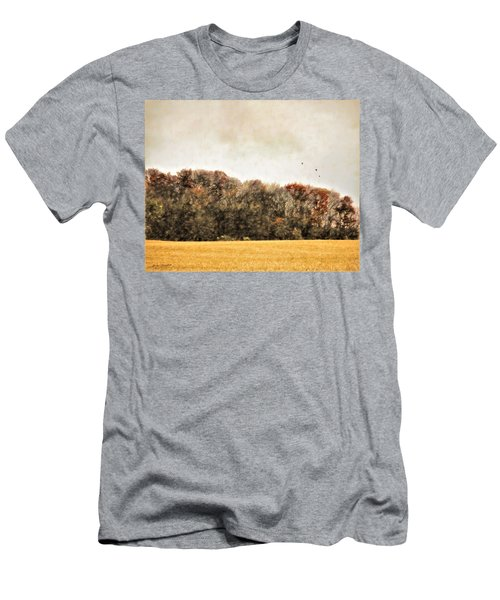 Three Crows And Golden Field Men's T-Shirt (Athletic Fit)