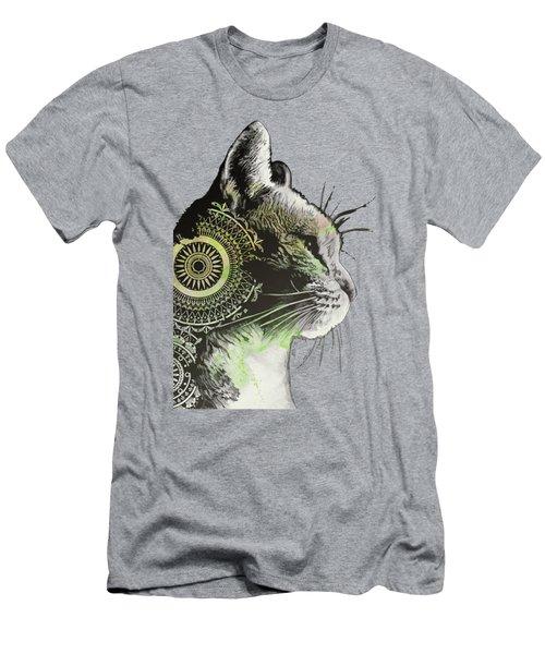 Tides Of Tomorrow - Lime - Mandala Cat Drawing Men's T-Shirt (Athletic Fit)