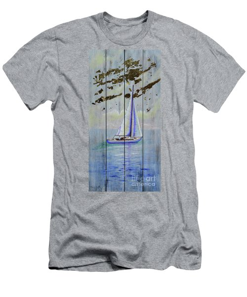 Men's T-Shirt (Athletic Fit) featuring the painting Time To Sail by Mary Scott