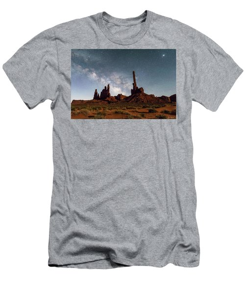 Totem Pole, Yei Bi Che And Milky Way Men's T-Shirt (Athletic Fit)