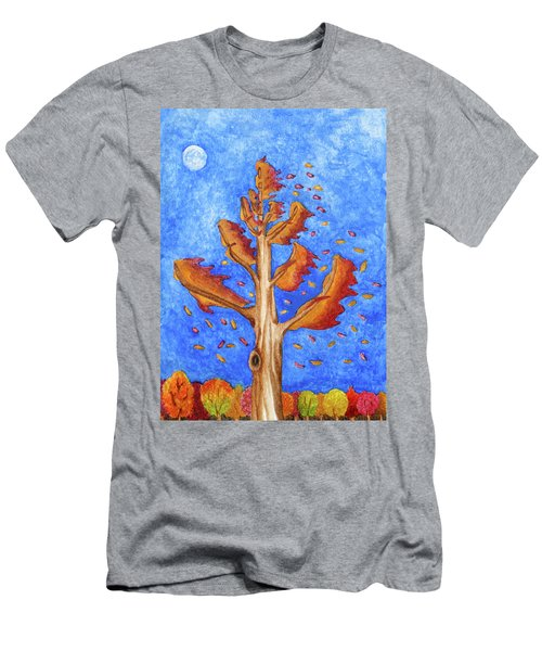 Tree In Autumn Wind I Men's T-Shirt (Athletic Fit)