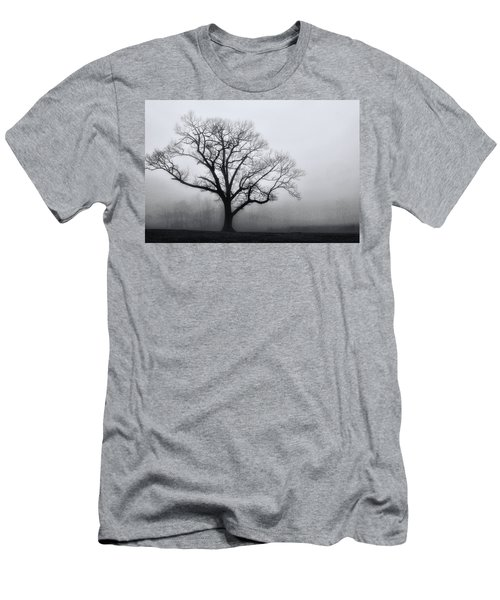 Trees In Fog # 2 Men's T-Shirt (Athletic Fit)
