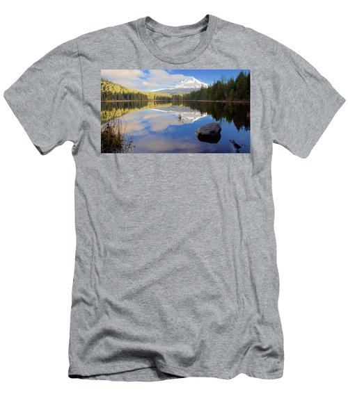Trillium Lake Morning Reflections Men's T-Shirt (Athletic Fit)