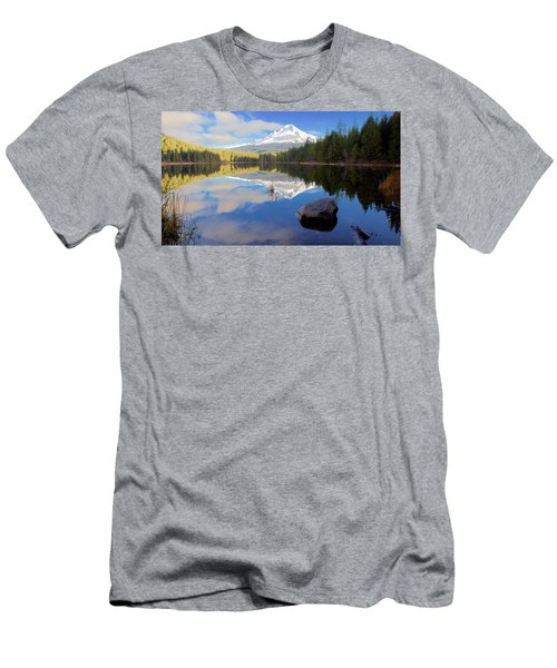 Trillium Lake November Morning Men's T-Shirt (Athletic Fit)