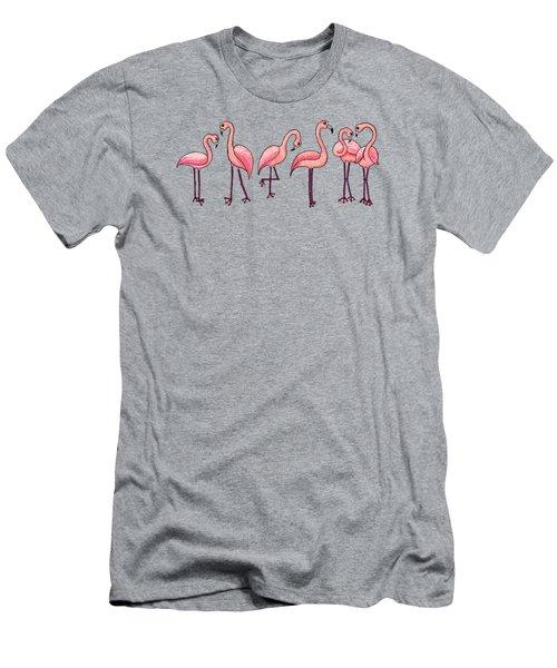 Tropical Flamingos Men's T-Shirt (Athletic Fit)