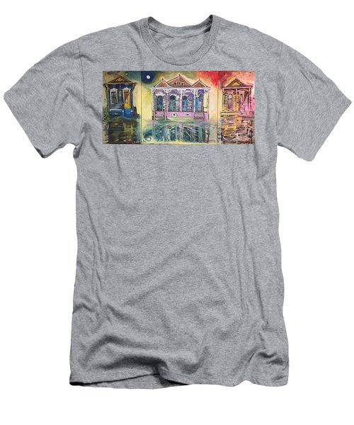 Tryptic On The Bayou New Orleans Men's T-Shirt (Athletic Fit)