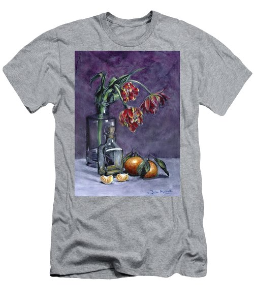 Tulips And Oranges Men's T-Shirt (Athletic Fit)