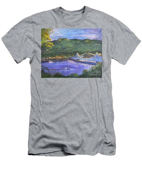 Twilight At Blue Bridges Men's T-Shirt (Athletic Fit)