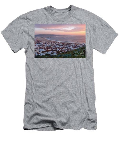 Twilight At Nazare Village Men's T-Shirt (Athletic Fit)