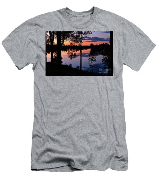 Twilight By The Lake Men's T-Shirt (Athletic Fit)