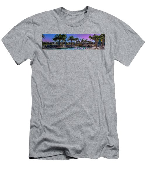 Twilight Pool Men's T-Shirt (Athletic Fit)