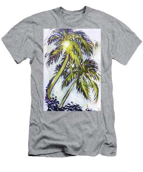 Two Palm Sketch Men's T-Shirt (Athletic Fit)