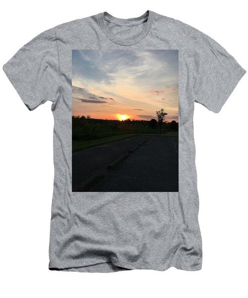 Union Sunset  Men's T-Shirt (Athletic Fit)