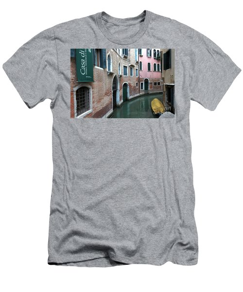 Venetian Streets -canals. Carlo Galdoni Museum Men's T-Shirt (Athletic Fit)