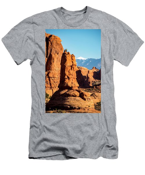 Men's T-Shirt (Athletic Fit) featuring the photograph Victory Dance by David Morefield