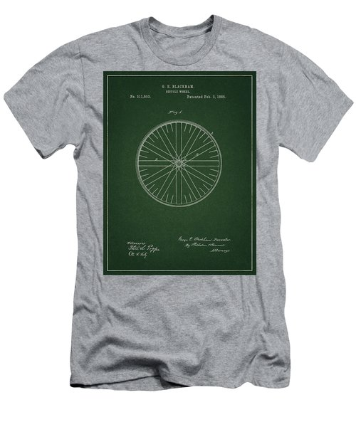 Men's T-Shirt (Athletic Fit) featuring the drawing Vintage Bicycle Tire Patent by Dan Sproul