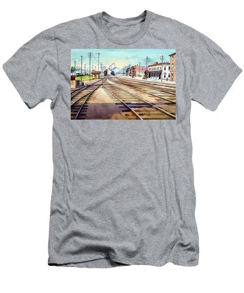 Vintage Color Columbia Rail Yards Men's T-Shirt (Athletic Fit)