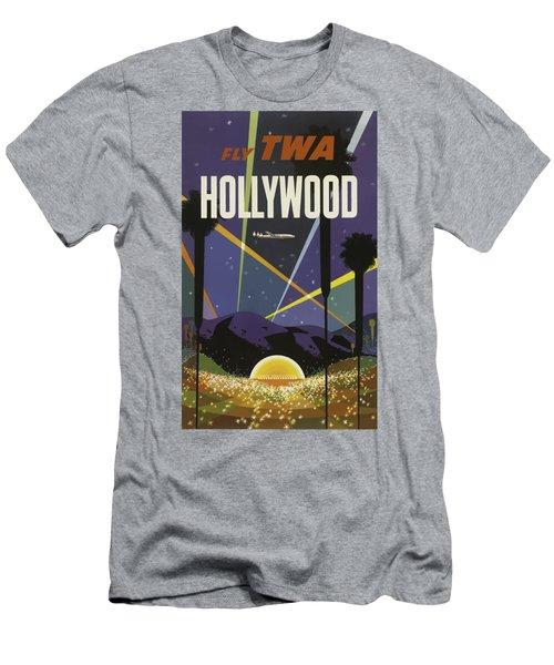 Vintage Travel Poster - Hollywood Men's T-Shirt (Athletic Fit)