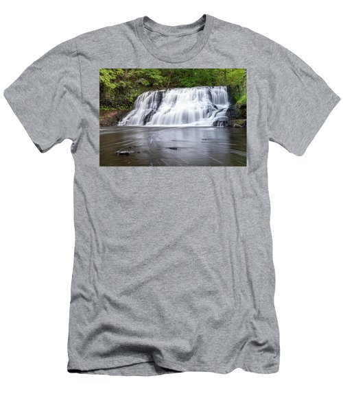 Wadsworth Falls In Middletown, Connecticut U.s.a.  Men's T-Shirt (Athletic Fit)