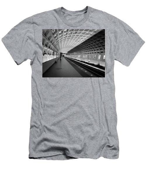 Waiting At Pentagon City Station Men's T-Shirt (Athletic Fit)