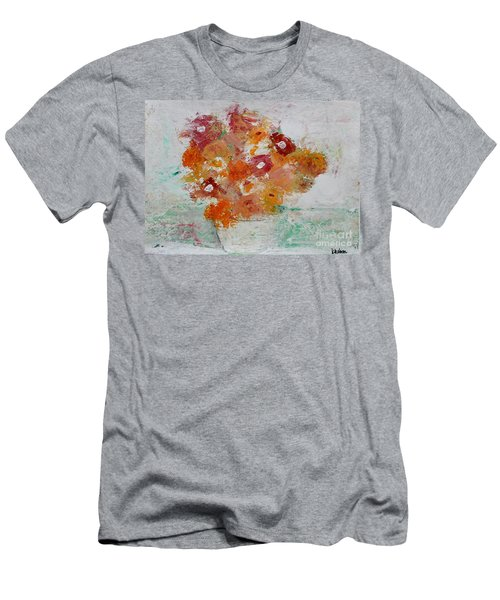 Men's T-Shirt (Athletic Fit) featuring the painting Warm Floral by Kim Nelson