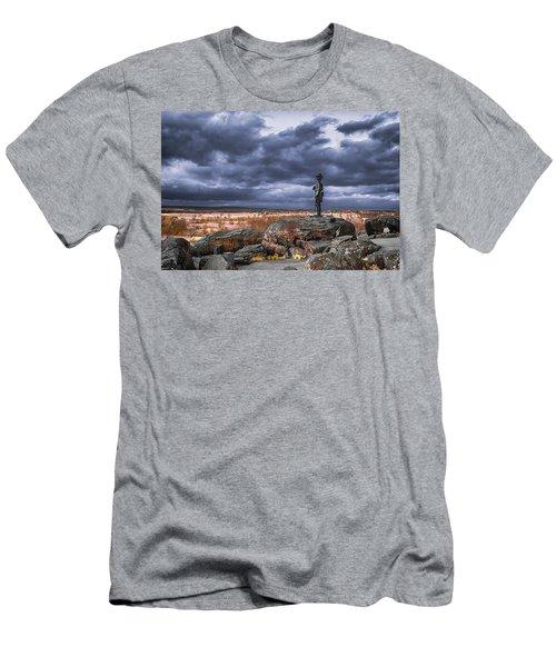 Warren In Infrared Men's T-Shirt (Athletic Fit)