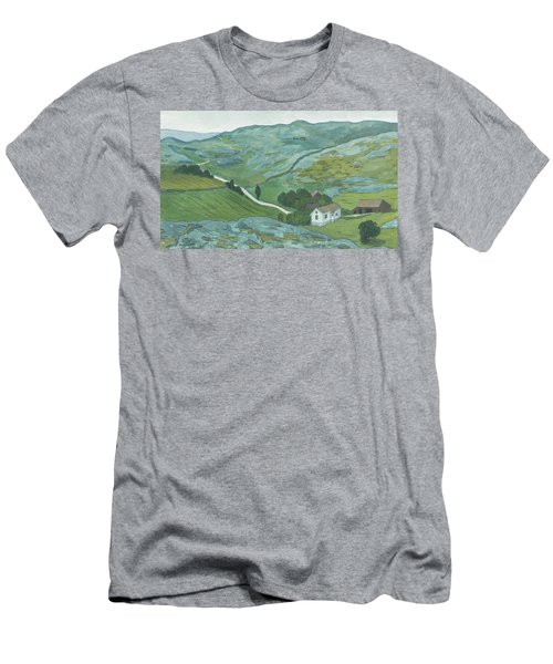 Men's T-Shirt (Athletic Fit) featuring the drawing Waste Land by Ivar Arosenius