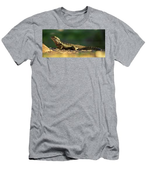Men's T-Shirt (Athletic Fit) featuring the photograph Water Dragon Lizard Outdoors by Rob D Imagery