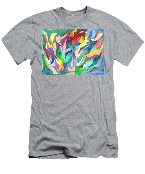 Watercolor Mosaic Men's T-Shirt (Athletic Fit)