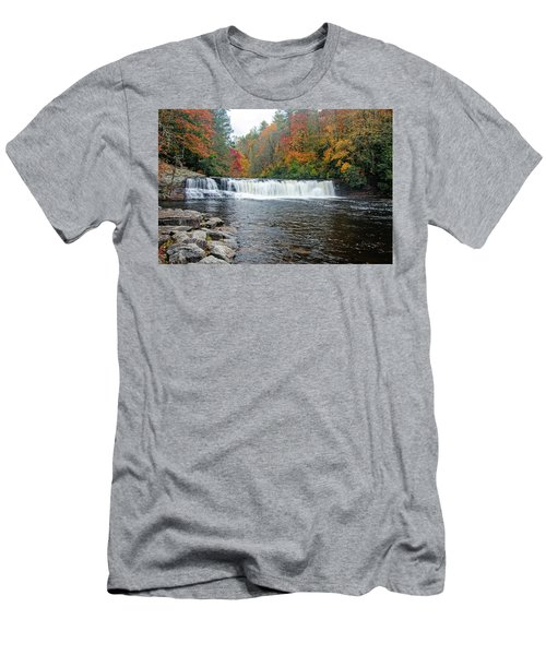 Waterfall In Autumn Men's T-Shirt (Athletic Fit)