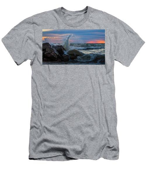 Wave Vs Rock Men's T-Shirt (Athletic Fit)