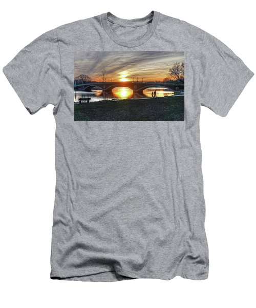 Weeks Bridge At Sunset Men's T-Shirt (Athletic Fit)