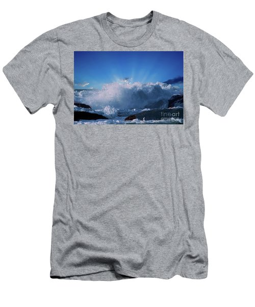 When The Moment Hits You Like A Wave Men's T-Shirt (Athletic Fit)