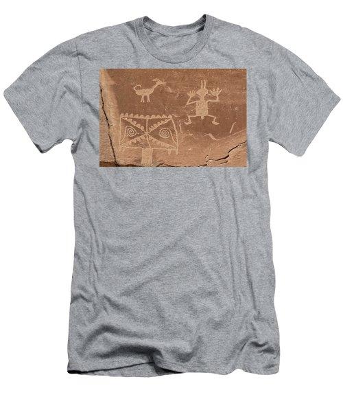 Whimsical Petroglyph Panel  Men's T-Shirt (Athletic Fit)