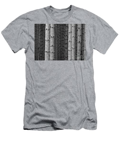 White Pines Black And White Men's T-Shirt (Athletic Fit)