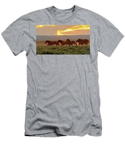 Wild Horses At Dusk Men's T-Shirt (Athletic Fit)