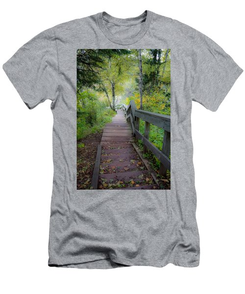 Winding Stairs In Autumn Men's T-Shirt (Athletic Fit)