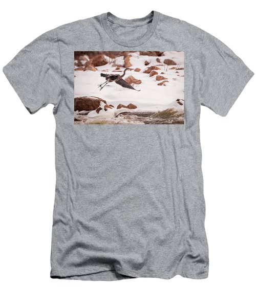 Men's T-Shirt (Athletic Fit) featuring the photograph Winter Blue by Jeff Phillippi