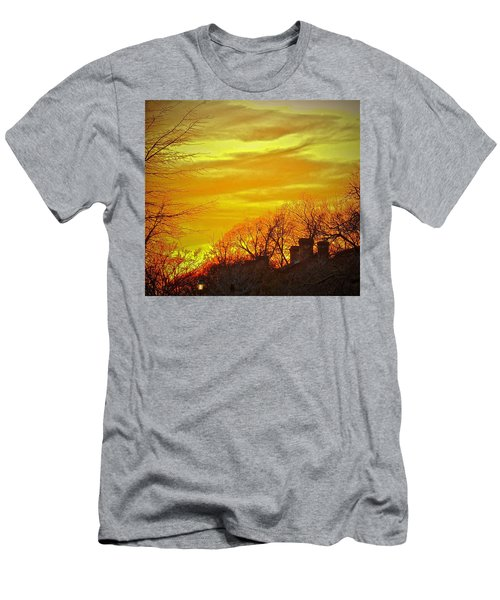 Men's T-Shirt (Athletic Fit) featuring the photograph Winter Gold by Don Moore