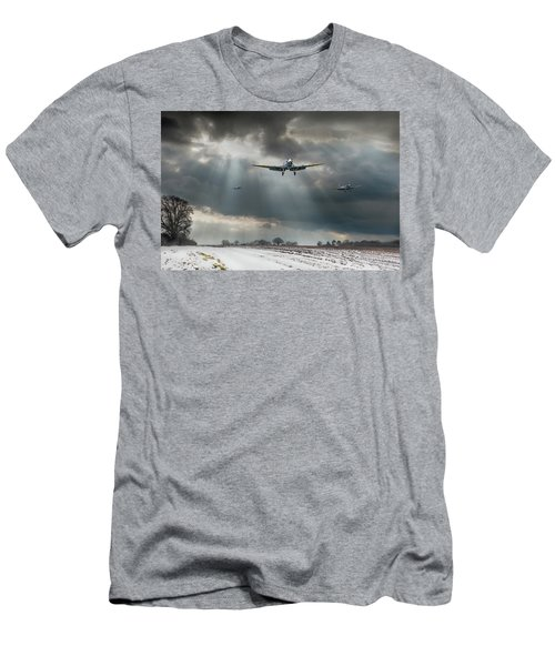 Men's T-Shirt (Athletic Fit) featuring the photograph Winter Homecoming by Gary Eason