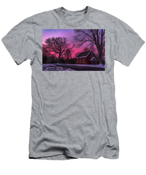 Men's T-Shirt (Athletic Fit) featuring the photograph Winter Sunrise by Lori Coleman
