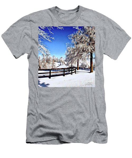 Wintry Lane Men's T-Shirt (Athletic Fit)