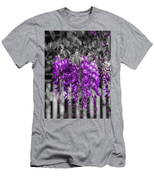 Wisteria Falling Men's T-Shirt (Athletic Fit)