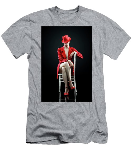 Woman In Red Men's T-Shirt (Athletic Fit)