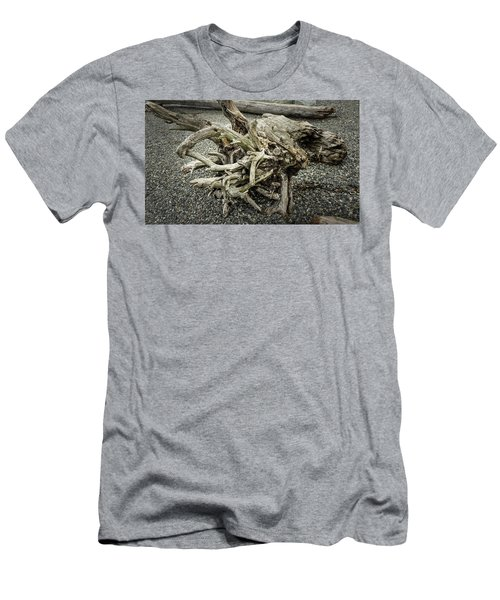 Men's T-Shirt (Athletic Fit) featuring the photograph Wood Log In Nature No.34 by Juan Contreras