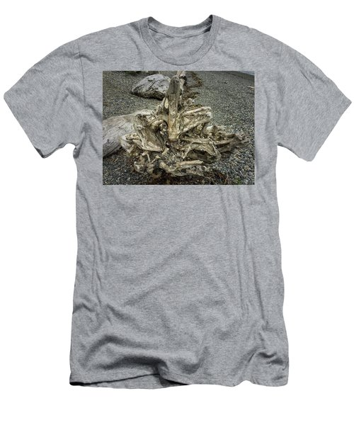 Men's T-Shirt (Athletic Fit) featuring the photograph Wood Log In Nature No.36 by Juan Contreras