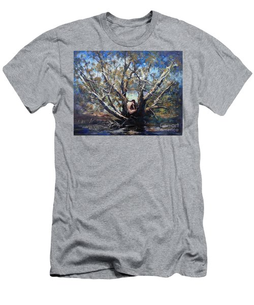 Men's T-Shirt (Athletic Fit) featuring the painting Wood Nymph by Ryn Shell