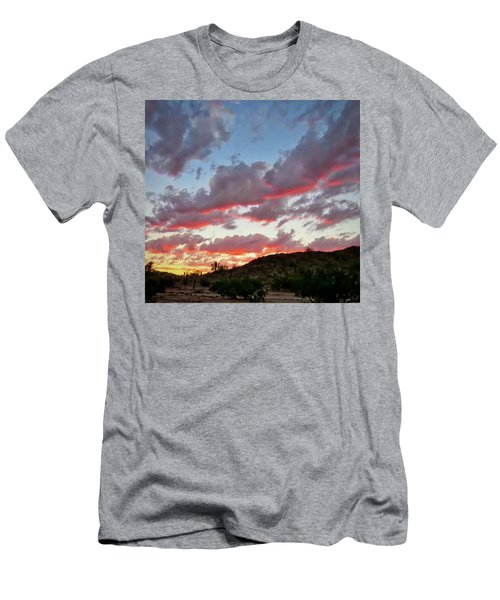 Men's T-Shirt (Athletic Fit) featuring the photograph Y Cactus Sunset  11 by Judy Kennedy